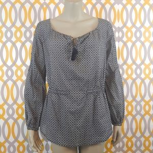 TORY BURCH Tunic Patterned Top Shirt Size 4